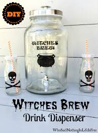diy witches brew drink dispenser