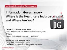 Webinar Information Governance Where Is The Healthcare Industry An