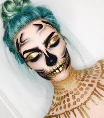 golden skull makeup tutorial bmodish