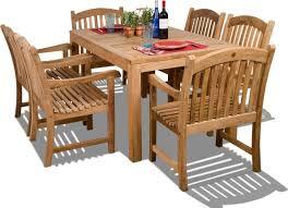 ia teak oslo 7 piece rectangular teak outdoor dining set