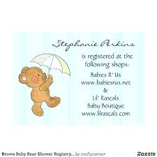 Baby Shower Registry Inserts Template Wish List Free Cards Gift Card