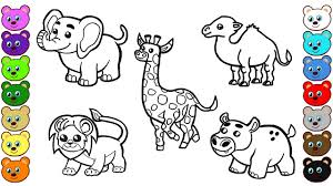 African Animals Coloring Pages For Children Youtube