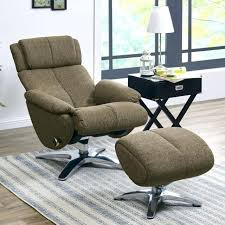 swivel recliner chair brown chenille contemporary and ottoman genuine leather chairs costco rocker