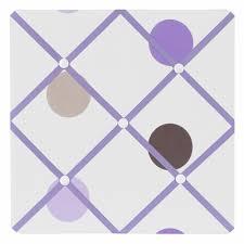 Purple Memo Board Mesmerizing Mod Dots Purple Fabric Memo Board