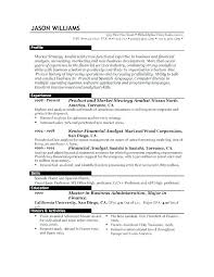 Sample Resume Formats For Experienced Inspiration Standard Professional Resume Format Format Of Professional Resume