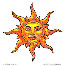 drawn sunshine mexican sun 1