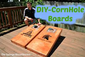 Wooden Corn Hole Game DIYCorn Hole Boards YouTube 94