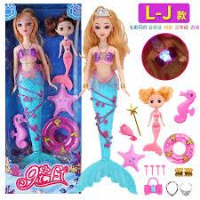 Đồ Chơi Nàng Tiên Cá Có Thể Hát Và Phát Sáng Bộ Búp Bê Barbie Công Chúa Nàng  Tiên Cá Trẻ Em Nước Ngoài Mô Phỏng Cô Gái Món Quà