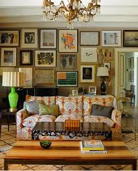 patterned sofa eclectic living room