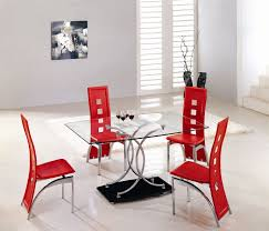 red dining room colors. Contemporary White And Red Dining Room Themes Added Chairs Set With Square Glass Table Also Wall Painted Color Schemes Colors L
