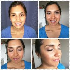 this two person team performs make up artist jobs professionally they practice beauty theatrical a and clinical application private make u