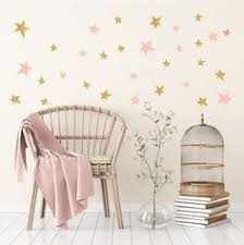 gold and pink star wall stickers for baby child bedroom or nursery on gold stars wall art with twinkle twinkle gold star wall art star wall twinkle twinkle and