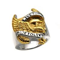 whole biker rings china 316l snless steel men biker rings ride to live anium