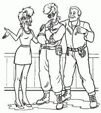 Small Picture Cool Ghostbusters Members Coloring Page Online Printable Fun