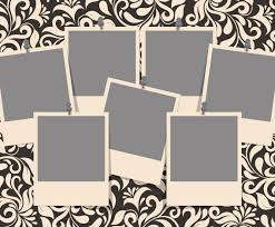 Template For Picture Collage Damask Photo Collage Template Vector Art Graphics