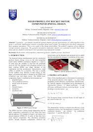 Solid Fuel Rocket Engine Design Pdf Solid Propellant Rocket Motor Components Initial Design