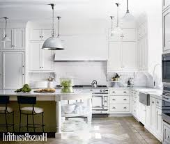 modern white kitchen island. Modern White Kitchens Crystal Cool Chandelier High Gloss Cabinet Gary Subway Tile Backsplash Fabulous Custom Wooden Red Upholstered Bar Stools Kitchen Island