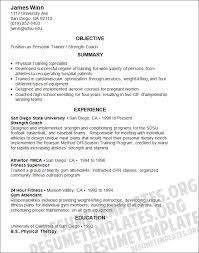 gym manager personal trainer resume samples