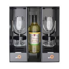 personalised white wine gift set