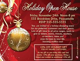 christmas open house flyer open house invitations mk virtual office