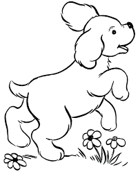 Cute Dog Coloring Pages Dog Coloring Pages For Toddlers Puppy Cute