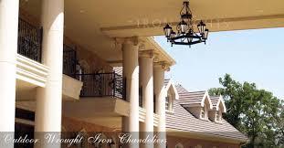 wrought iron outdoor chandeliers