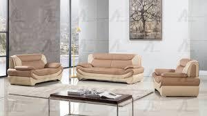 Ivory Living Room Furniture American Eagle Modern Leather Ae209 Ca Iv Camel Ivory 3pcs Living