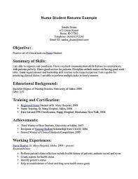 Nursing Student Resume Medmoryapp Com