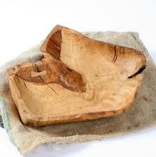 rustic english oak fruit bowl image