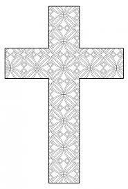 Free Printable Cross Coloring Pages Feltmagnet