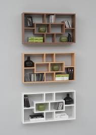 Modern Wood Wall Mounted Shelving Unit With Cabinet Design