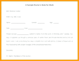 Doctors Notes Examples Dental Excuse Note Sample Example Letter For Work Template