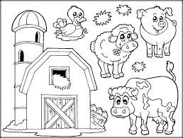 Coloring Pages Farm Animals With Farm Coloring Pages Coloring