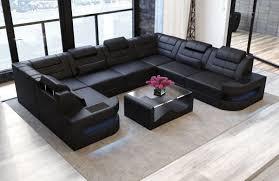 Couch U Form Schwarz