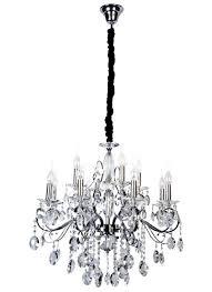 madeleine 12 light egyptian crystal chandelier in chrome