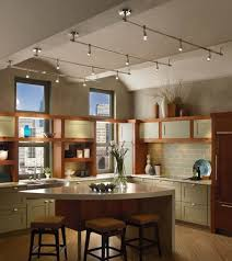 Mesmerizing Kitchen Lighting Design With Comfortable Cabinet And City View