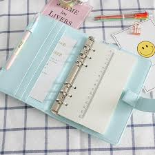 Cute A5/A6 Leather <b>Loose</b> Leaf Refill Notebook Cover Spiral Binder ...