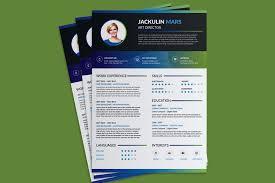 Beautiful Resume (CV) Design Template Free PSD File