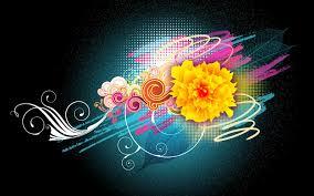 Vector Flowers Desktop Wallpapers