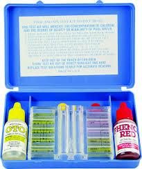 Oto Chlorine Test Color Chart Jed Pool 00 481 Pool Tests Kit 2 Way Aqua Chem
