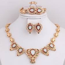 2016 wedding accessories gold plated jewellery floating charms whole vogue woman costume african jewelry sets jewelry