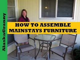 how to assemble patio furniture you