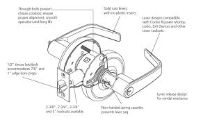 Corbin Russwin CL3855 NZD Classroom Function Lockset