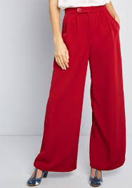 Pants Images Polished Example Wide Leg Pants In Dark Red Modcloth