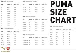 Puma To Nike Size Chart Nike Soccer Shirt Size Chart Nike Soccer Shorts Size Chart