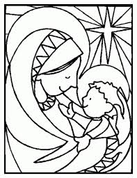 Stained Glass Christmas Coloring Pages Coloring Pages Ideas