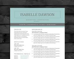 Resume Template Ideas Awesome Professional Resume Template Design Easy To Edit It Word 44 Pages