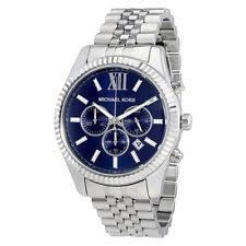 michael kors lexington mk8280 wrist watch for men item 3 new mens michael kors mk8280 lexington silver tone chronograph watch