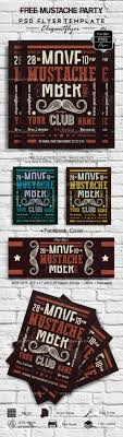s elegantflyer free flyers mustache party free flyer psd template facebook cover graphic design mustache party psd templates
