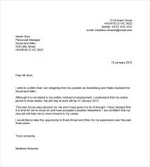 Free 6 Sample Resignation Email Letter Templates In In Pdf